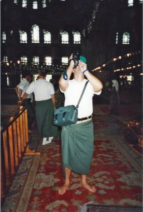 Joe in Hagia Sophia